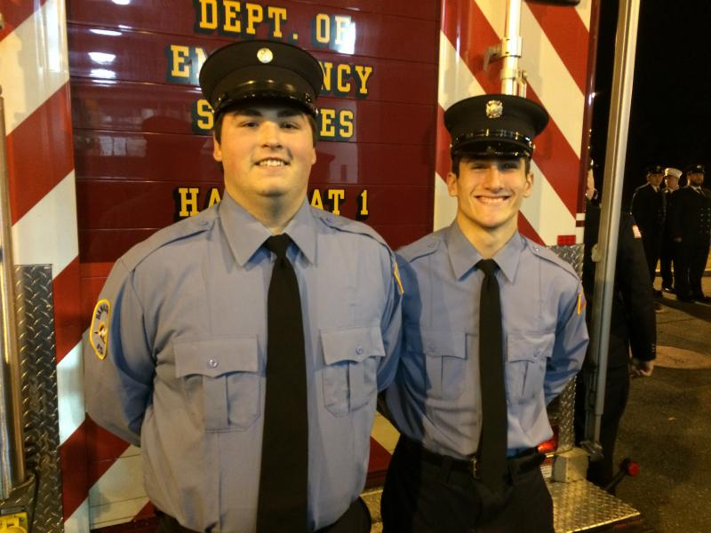Graduation!  Congratulations to Kevin O'Shea and Ben Gershman for completing Firefighter 1