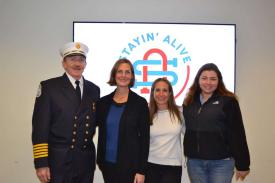 Stayin' Alive charity grant award event. BIFD received a grant to purchase a Marsar ice rescue sled!  Thank you Stayin' Alive!