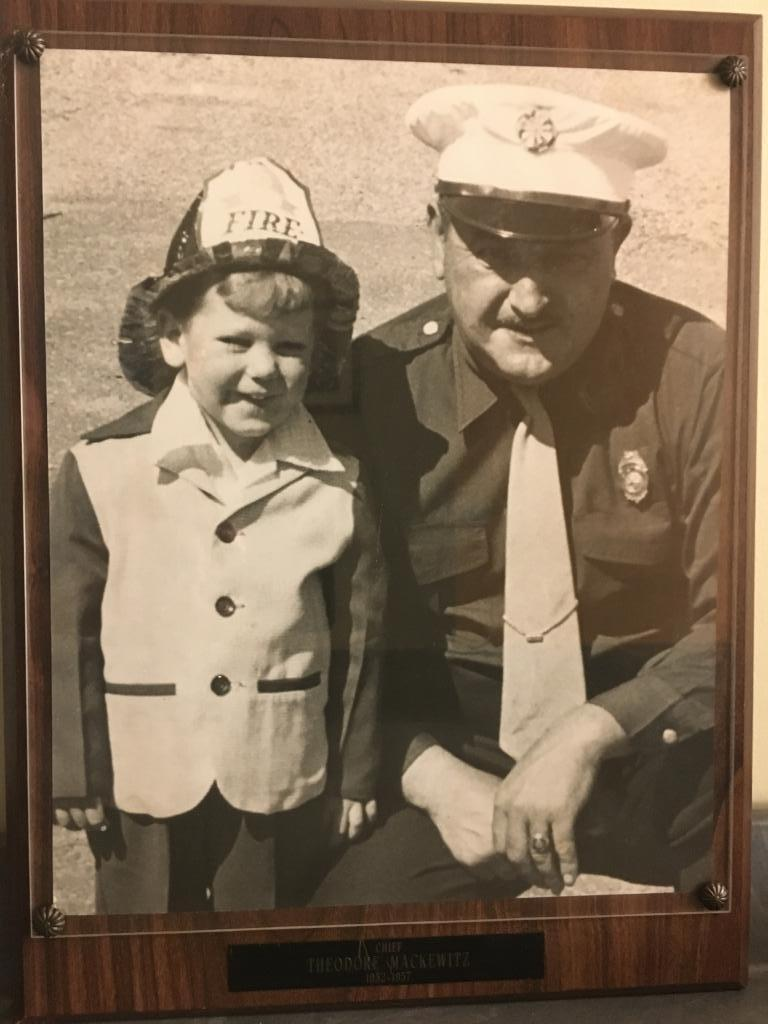 Billy with his grandfather Chief Ted Mackewitz