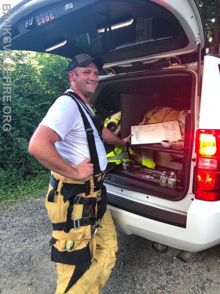 Chief Farquhar assisting with water supply in Armonk  July 2020