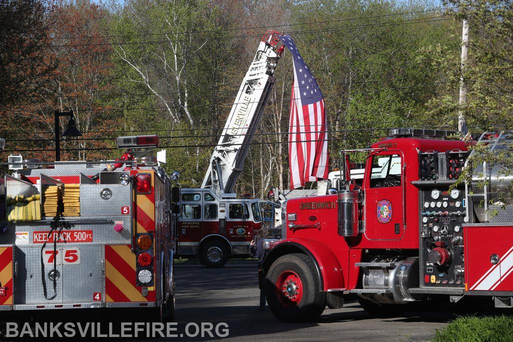 Memorial service for Ex Chief Richardson. May 2020 Frank Becerra photo